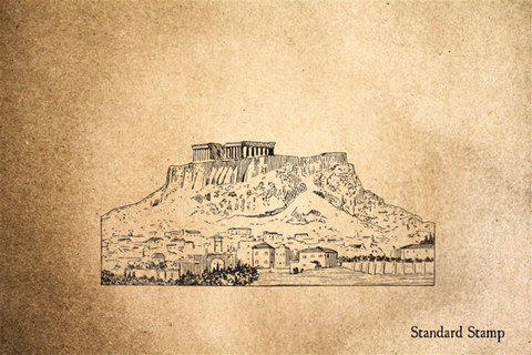 Acropolis Rubber Stamp
