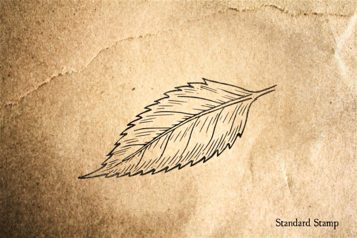 Acuminate Leaf Rubber Stamp
