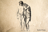 Adam and Eve Rubber Stamp