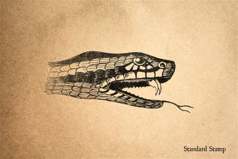 Adder Snake Head Rubber Stamp