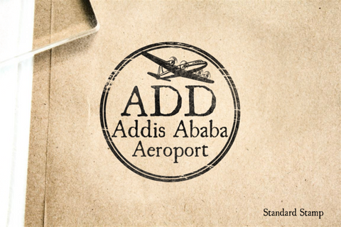 Addis Ababa Airport Rubber Stamp