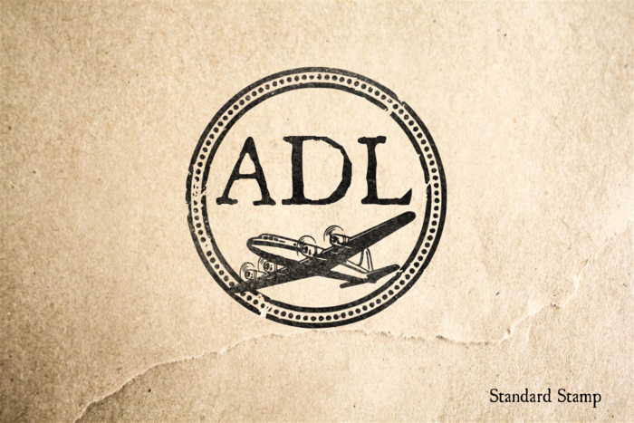 Adelaide Airport Rubber Stamp