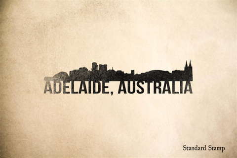 Adelaide Skyline Rubber Stamp