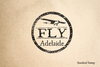 Adelaide Travel Rubber Stamp