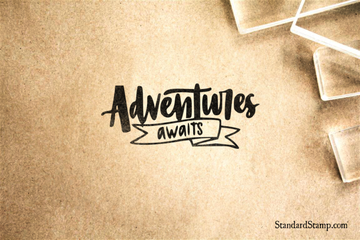 Adventure Awaits Rubber Stamp