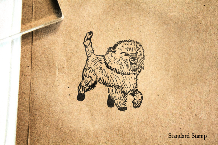 Affenpinscher Dog Rubber Stamp