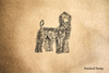 Afghan Hound Rubber Stamp