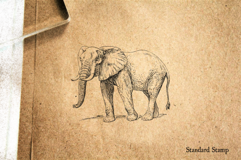 African Elephant Rubber Stamp