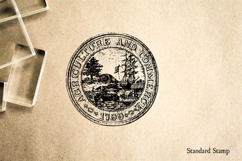 Agriculture and Commerce Seal Rubber Stamp