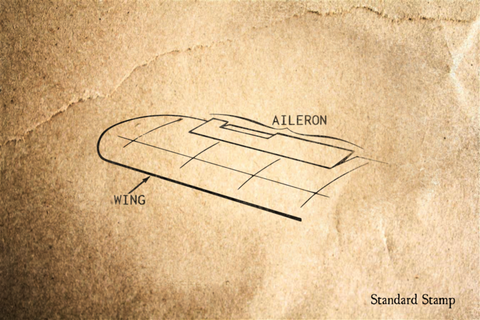 Aileron Diagram Rubber Stamp
