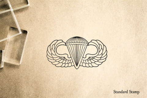 Air Force Parachute Wings Rubber Stamp