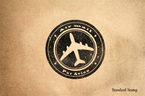 Air Mail Par Avion Rubber Stamp