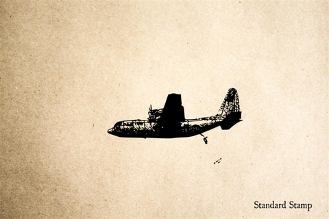 Airplane C-130 Rubber Stamp