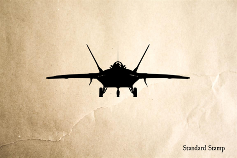 Airplane Fighter Jet Rubber Stamp