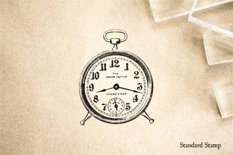 Alarm Clock Rubber Stamp