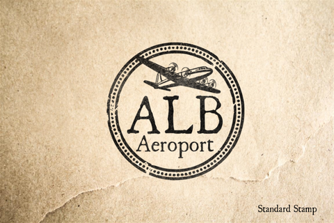 Albany Airport Rubber Stamp
