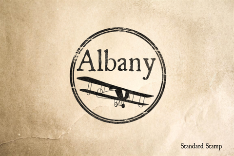 Albany Travel Rubber Stamp