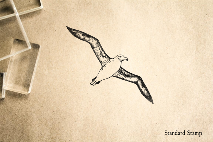 Albatross Flying Rubber Stamp