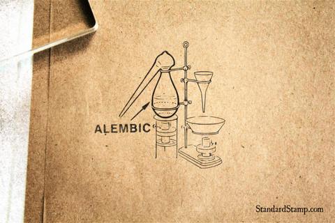 Alembic Glass Rubber Stamp