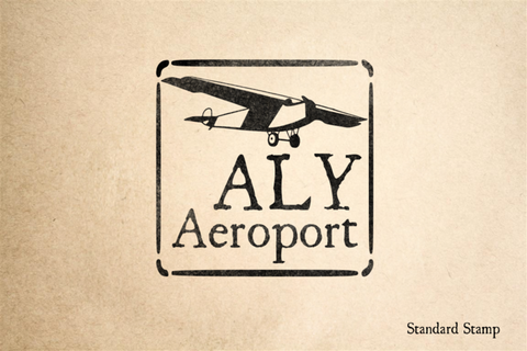 Alexandria Airport Rubber Stamp