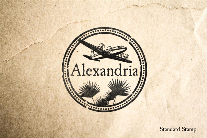 Alexandria Travel Rubber Stamp