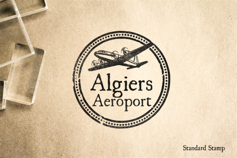 Algiers Airport Rubber Stamp