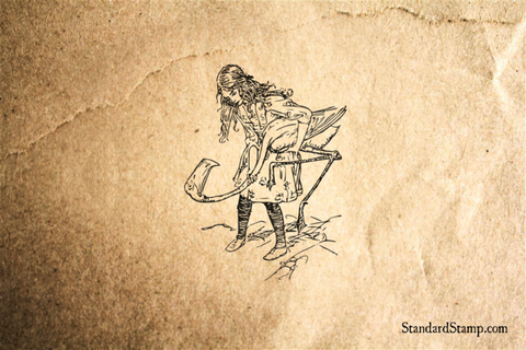 Alice Goes Golfing Rubber Stamp
