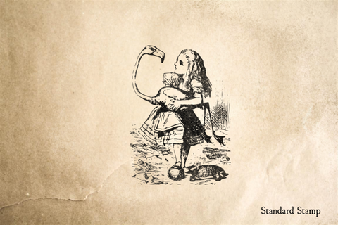 Alice Plays Croquet Rubber Stamp