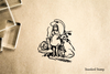 Alice in Wonderland Rubber Stamp