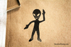 Alien Ninja Rubber Stamp