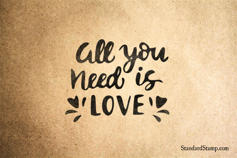 All You Need Is Love Rubber Stamp