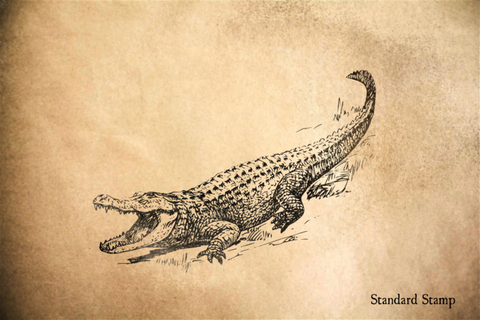 Alligator Rubber Stamp