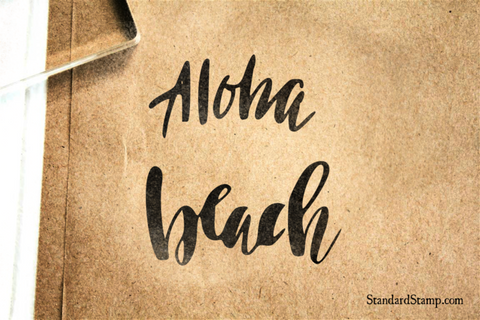 Aloha Beach Rubber Stamp