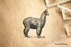 Alpaca Rubber Stamp