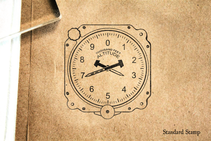 Altimeter Rubber Stamp