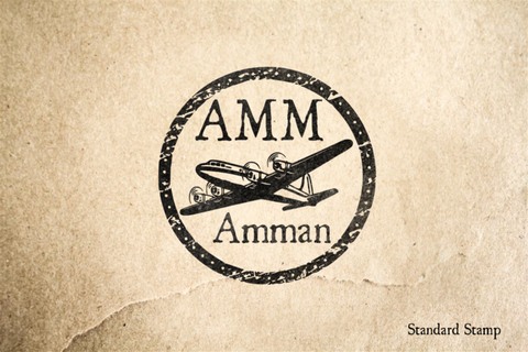 Amman Airport Rubber Stamp