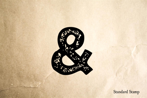 Ampersand Symbol Rubber Stamp