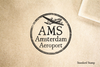 Amsterdam Airport Rubber Stamp