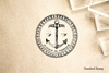 Anchor Seal Scales of Justice Rubber Stamp