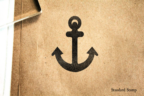 Anchor Silhouette Rubber Stamp