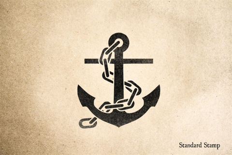 Anchor with Chain Rubber Stamp