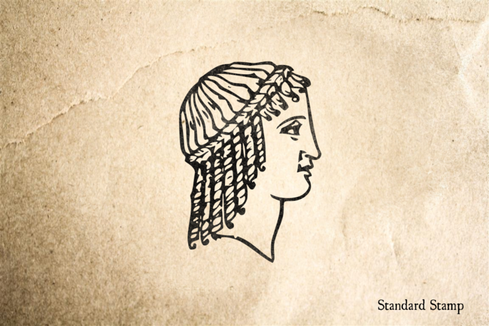 Ancient Greek Face Rubber Stamp