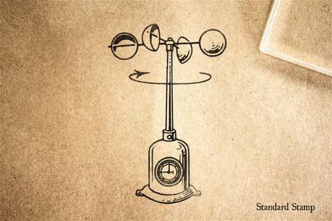 Anemometer Rubber Stamp