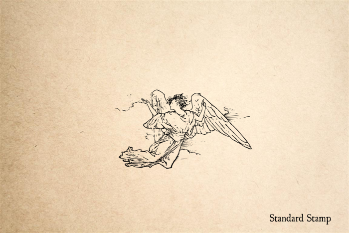 Angel Realistic Rubber Stamp