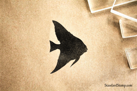 Angel Fish Rubber Stamp
