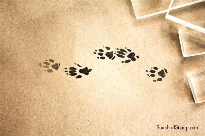 Animal Tracks Rubber Stamp