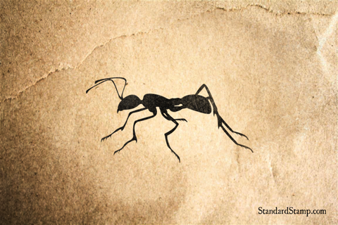 Ant Side View Rubber Stamp