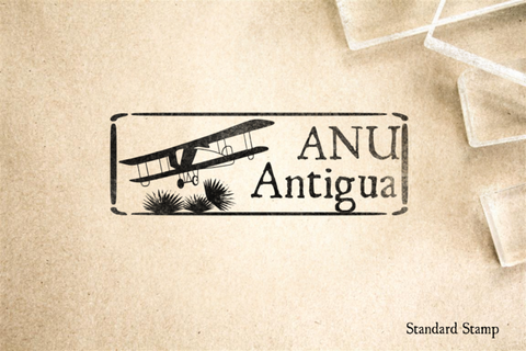Antigua Airport Rubber Stamp