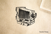 Antique Camera Rubber Stamp