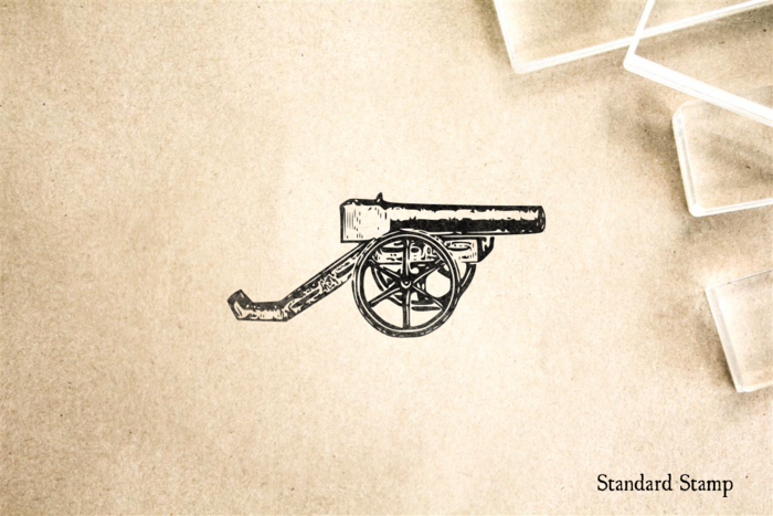 Antique Cannon 1 Rubber Stamp
